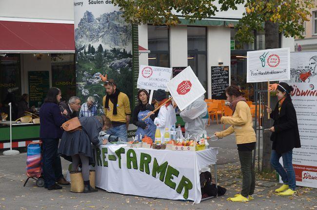 """""""Future Farmer""""-Warnung: Aktion für hohe Lebensmittel und Gesundheitsstandards & gegen TTIP, CETA undTISA"""