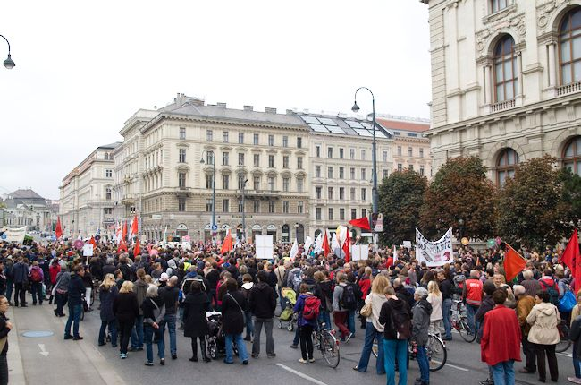 Demo gegen TTIP, TISA und CETA in Wien