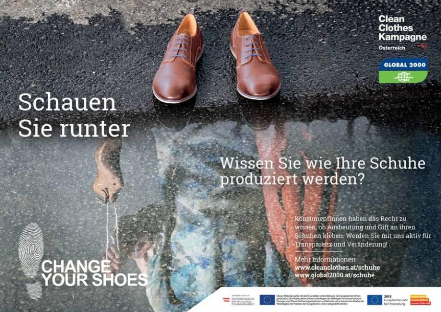 Die Clean Clothes Kampagne tritt für eine faire Schuhindustrie ein.