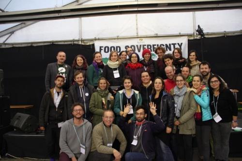 Bewegung für Ernährungssouveränität, die Nyéléni Bewegung: Teil der österreichische Delegation in Cluj