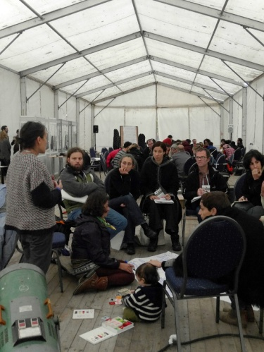 Nyéléni Treffen in Cluj: Aktionsplanung in der Kleingruppe