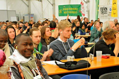 Nyéléni Treffen in Cluj: Eröffnungsplenum