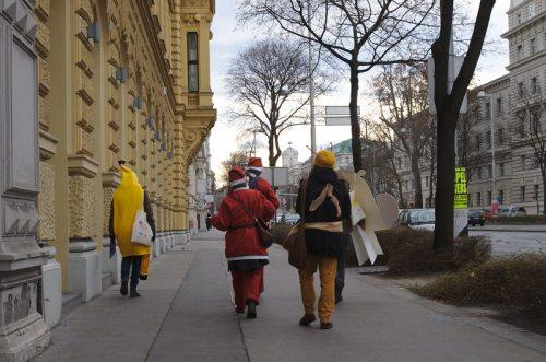 SUPPLY CHA!NGE – Make Supermarkets Fair am Weg durch die Wiener Innenstadt
