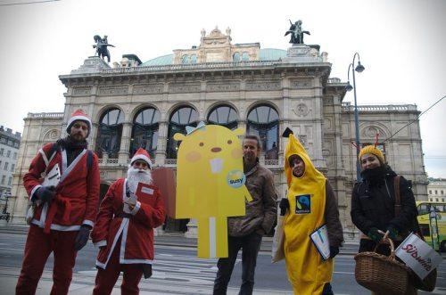 Österreichische Präsidentschaftskanzlei: vor der Wiener Staatsoper